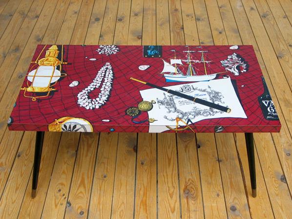 1950 coffee table marine and sea vat 69 eames era