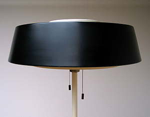 1950 metal floor lamp on tri-pod base Pilastro