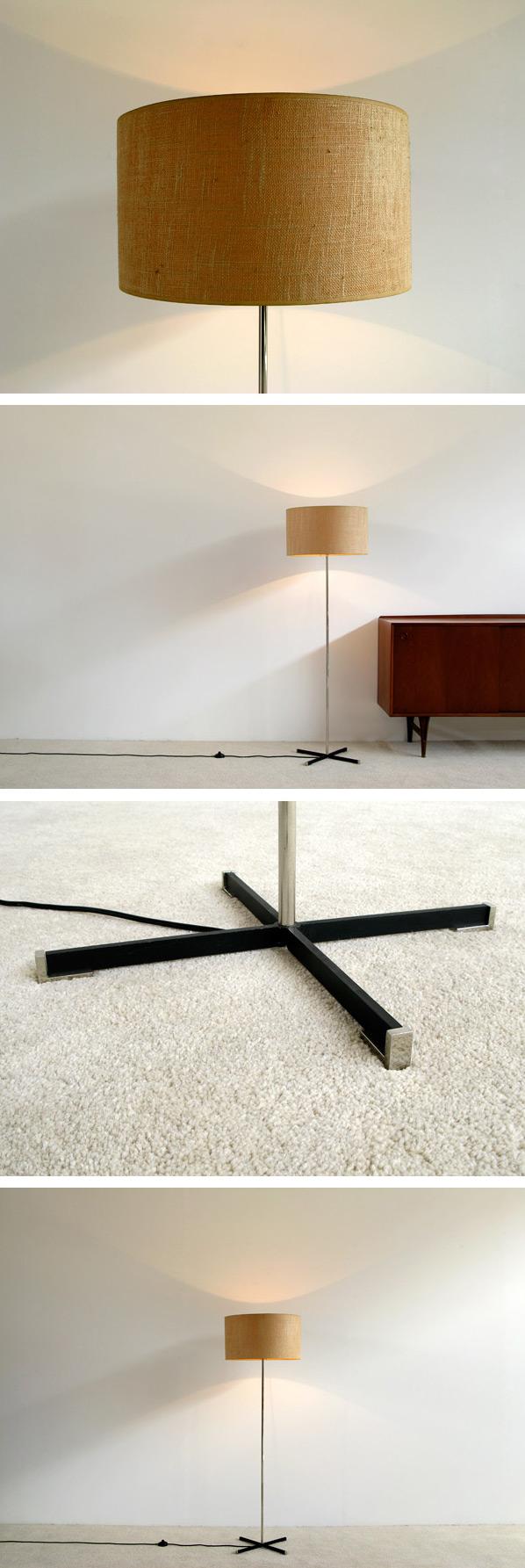 1960 Modern chrome floor lamp Large