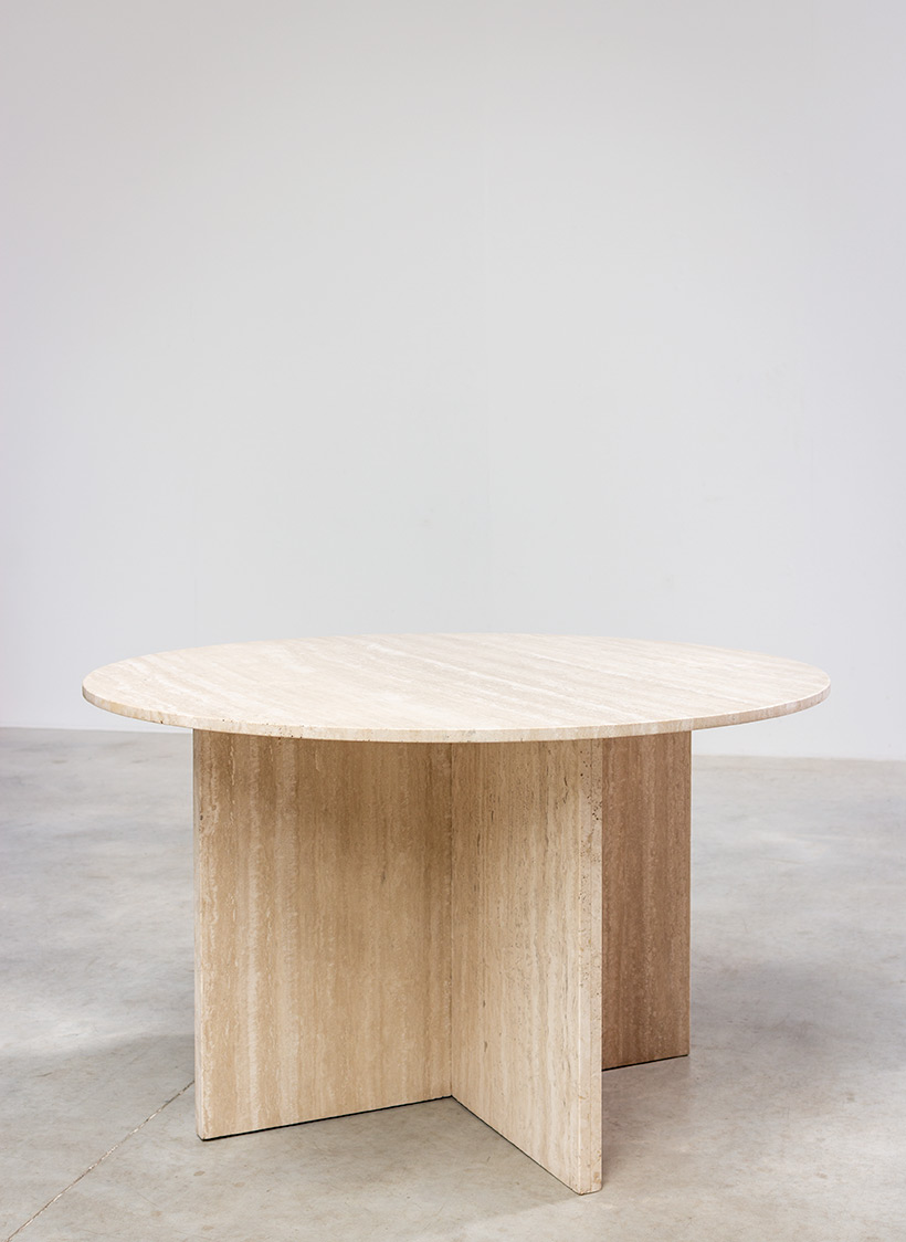 1970 architectural travertine dining or centre table img 3