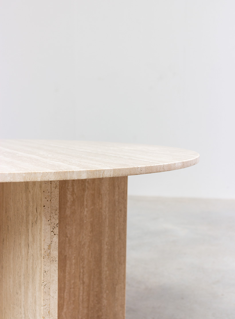 1970 architectural travertine dining or centre table img 4