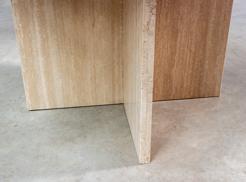 1970 architectural travertine dining or centre table img 5