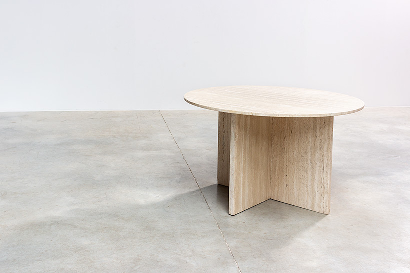 1970 architectural travertine dining or centre table img 6