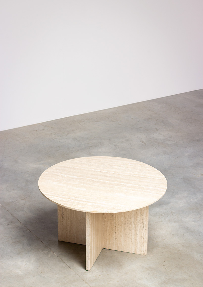 1970 architectural travertine dining or centre table img 7