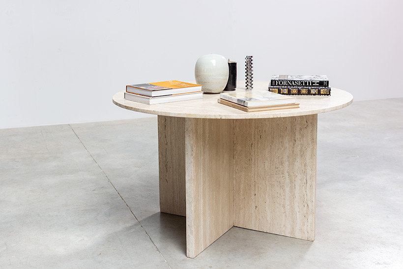 1970 architectural travertine dining or centre table img 8
