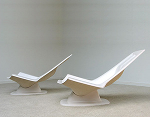 2 Space age chairs Jean Maneval