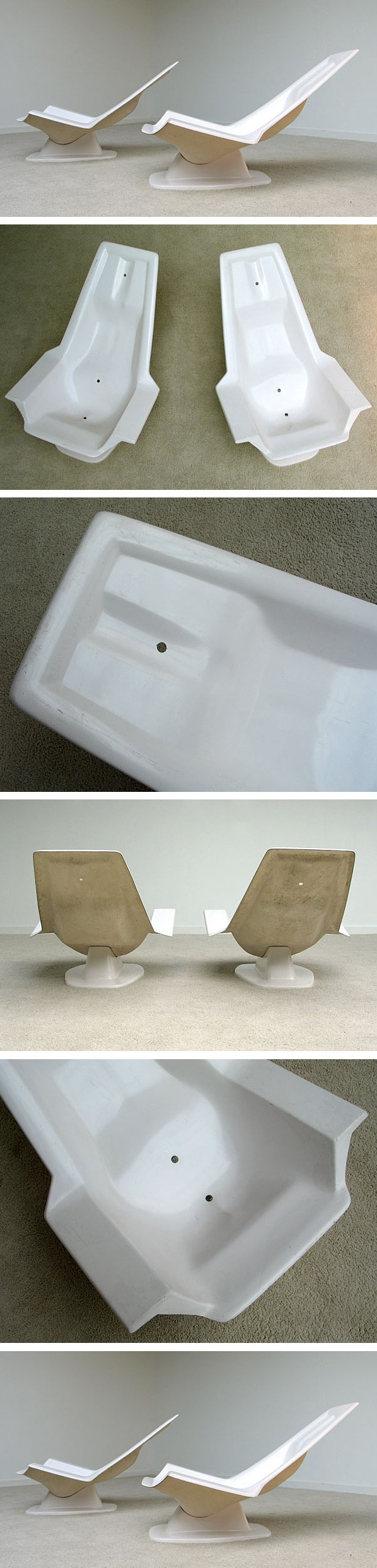 2 Space age chairs Jean Maneval Large