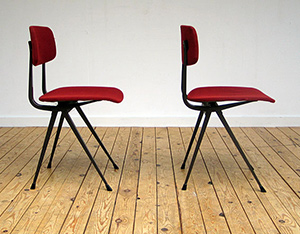 2 wine red industrial Friso Kramer chairs model Result