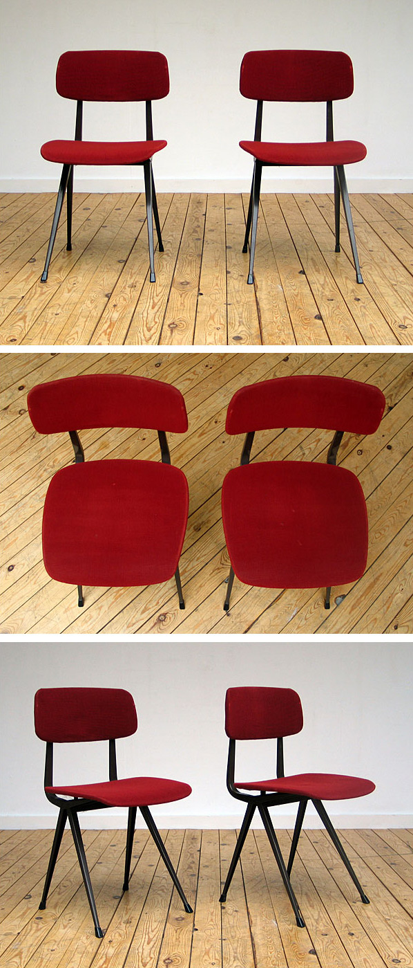 2 wine red industrial Friso Kramer chairs model Result Large