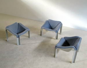 3 chairs F300 series Pierre Paulin Artifort