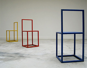 3 Cubistic chairs Donald Judd