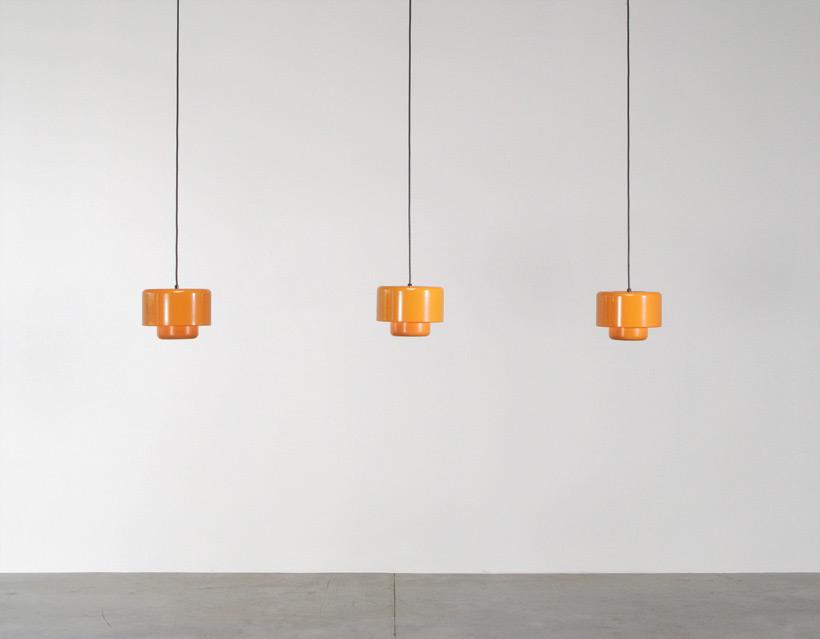 3 Fog and Murop metal orange pendant lights