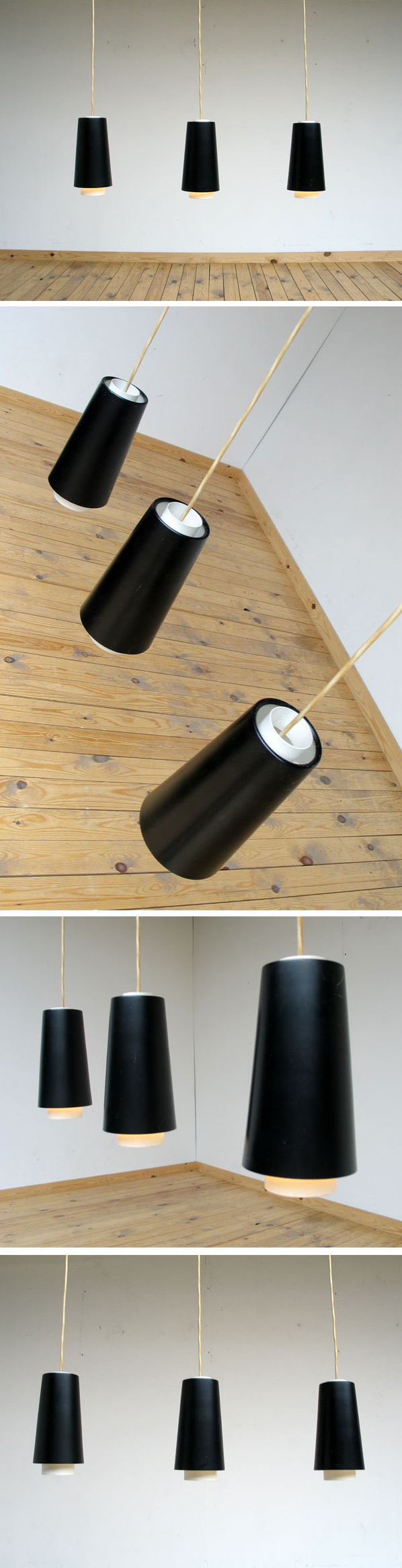 3 Industrial lamps Raak Amsterdam Large