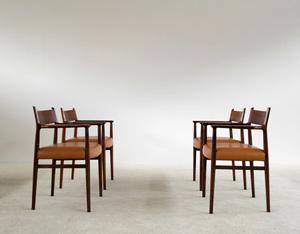 4 Arne Vodder Dinning chairs Sibast Mobler