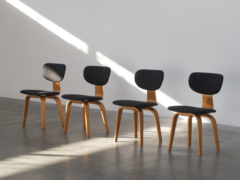 4 Cees Braakman SB03 dinning chairs Combex series