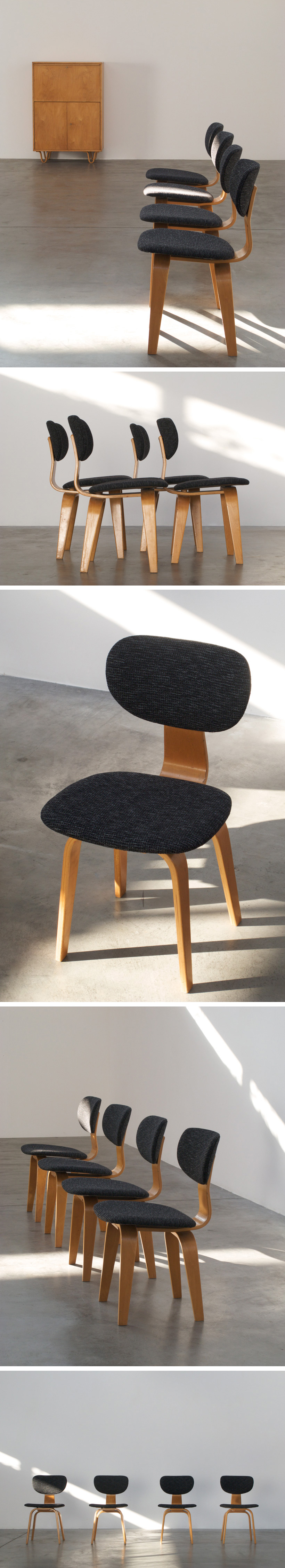 4 Cees Braakman SB03 dinning chairs Combex series Large
