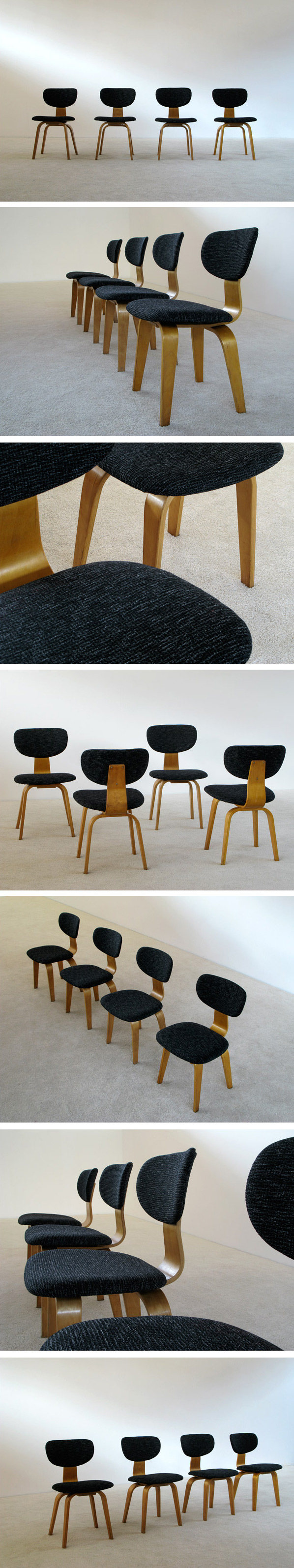 4 Cees Braakman SB03 dinning chairs UMS Pastoe Large