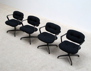 4 chairs model 2338 by Morrison and Hannah for Knoll International