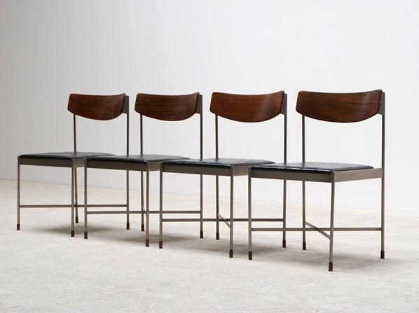 4 classic Italian dinning chairs