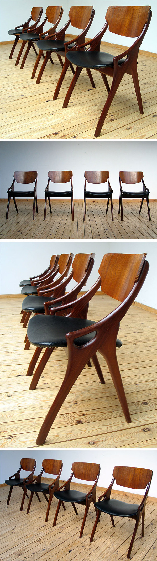 4 Dinning chairs designed by Hovmand Olsen Large