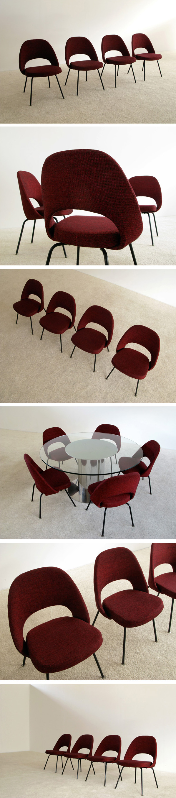 4 Eero Saarinen for Knoll mod. 71 executive side chairs Large