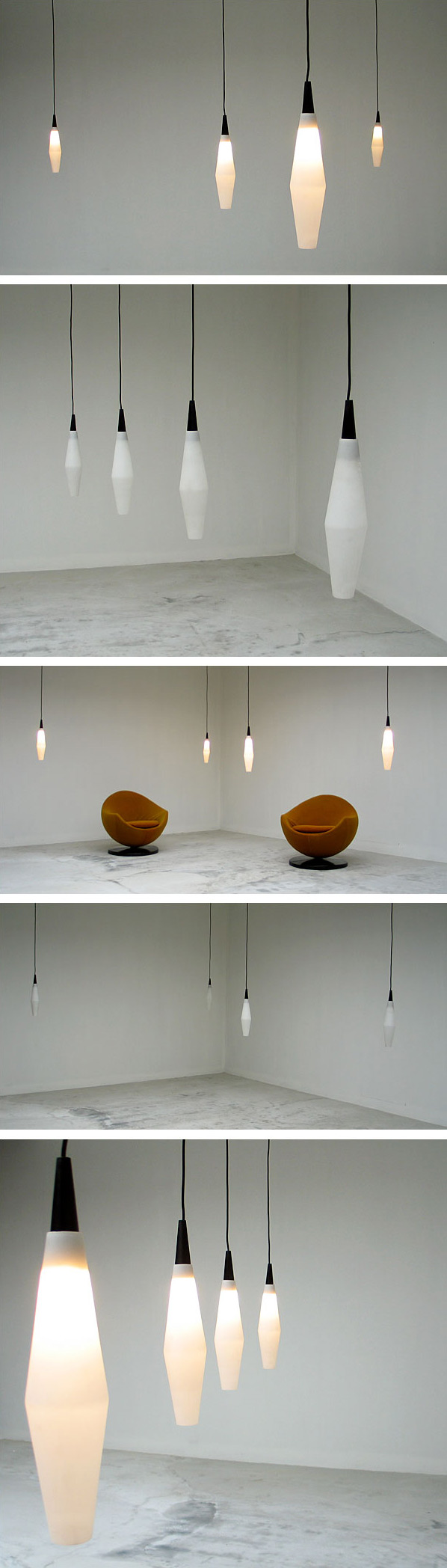 4 fifties Pendant lights Svend Aage Holm Sorensen Large