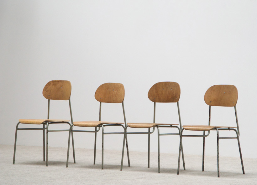 4 Industrial dinning chairs