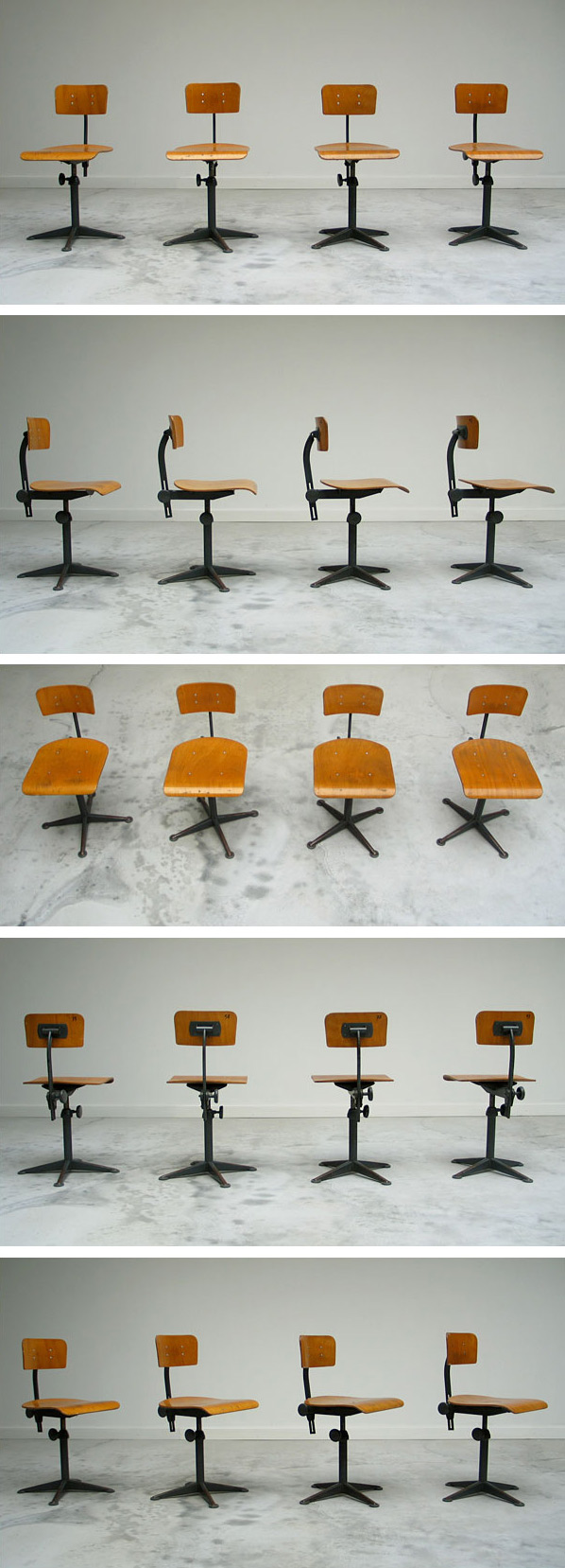 4 industrial Friso Kramer architect chairs Large