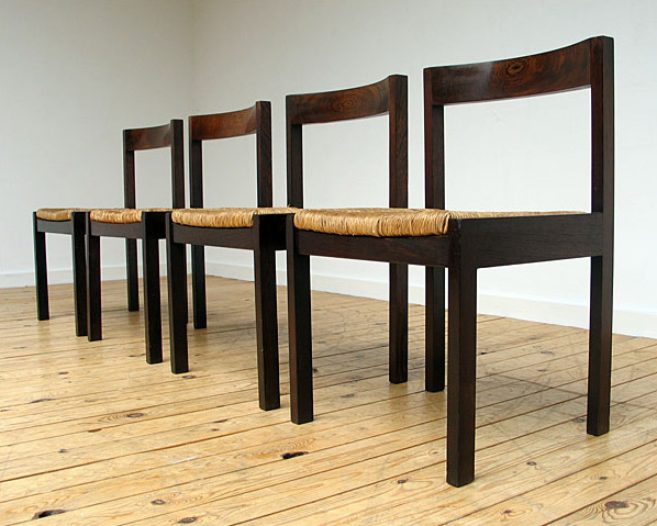 4 Martin Visser Dinning chairs in Wenge wood for Spectrum