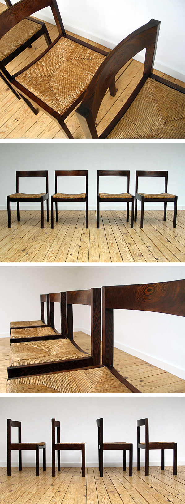 4 Martin Visser Dinning chairs in Wenge wood for Spectrum Large