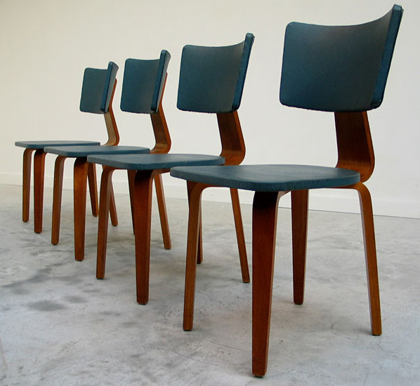 4 plywood multiplex chairs Cor Alons