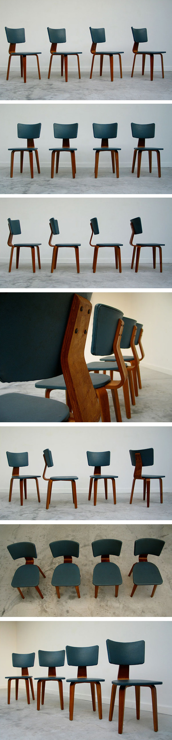 4 plywood multiplex chairs Cor Alons Large