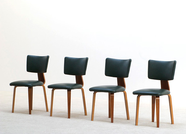 4 plywood multiplex dinning chairs Cor Alons