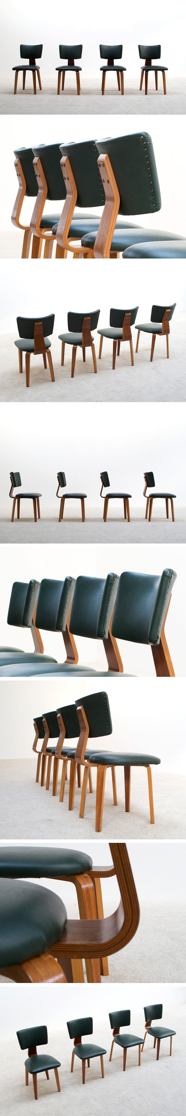 4 plywood multiplex dinning chairs Cor Alons Large