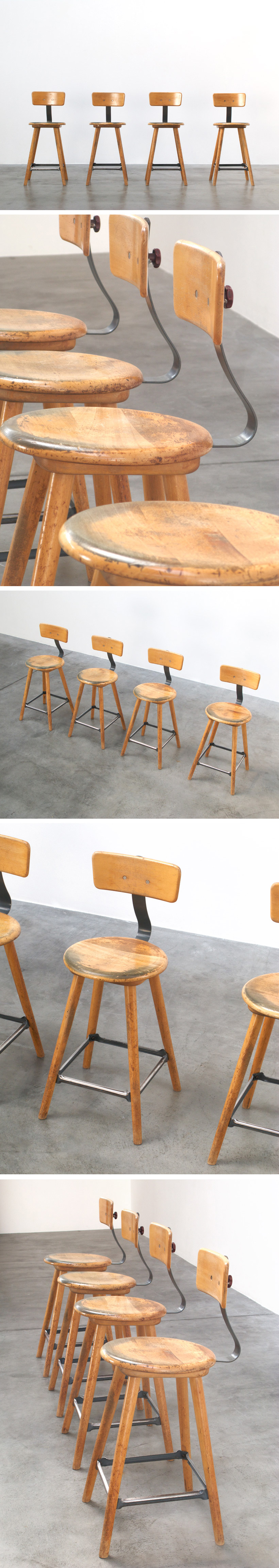 4 University Lab stools Large