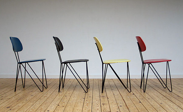 4 Wire chairs SM 01 Cees Braakman UMS Pastoe