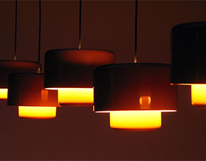 5 Fog & Murop metal orange pendant lights