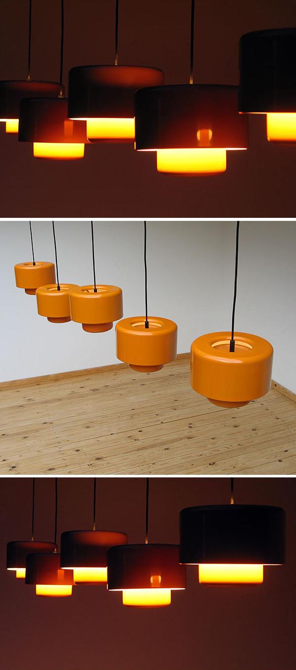 5 Fog & Murop metal orange pendant lights Large