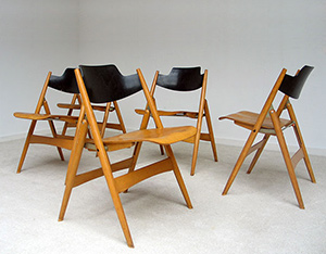 5 Folding chairs Model SE 18 Egon Eiermann