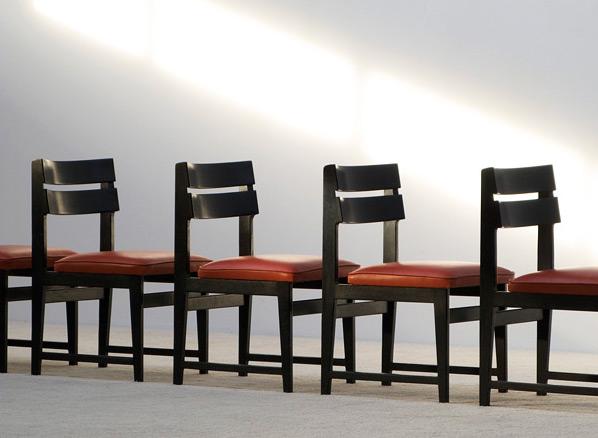 6 black ebonized dinning chairs