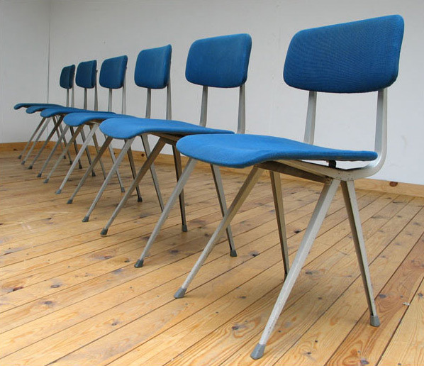 6 blue industrial Friso Kramer chairs model Result