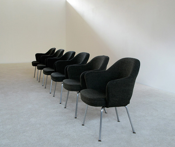 6 Eero Saarinen for Knoll mod. 71 executive armchairs