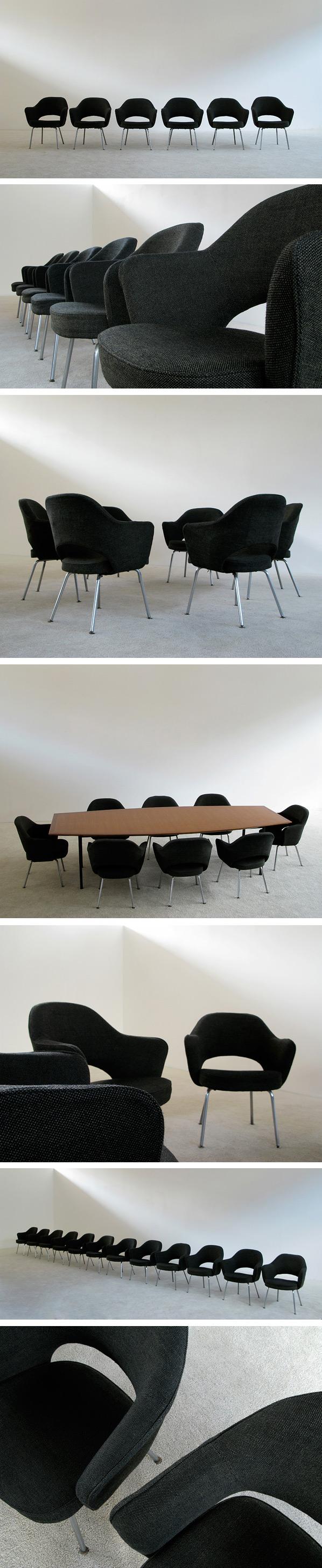 6 Eero Saarinen for Knoll mod. 71 executive armchairs Large