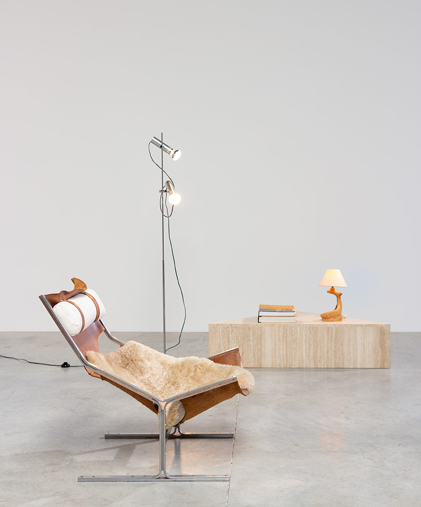Abraham Polak leather and steel lounge chair modernism 1960 img 10