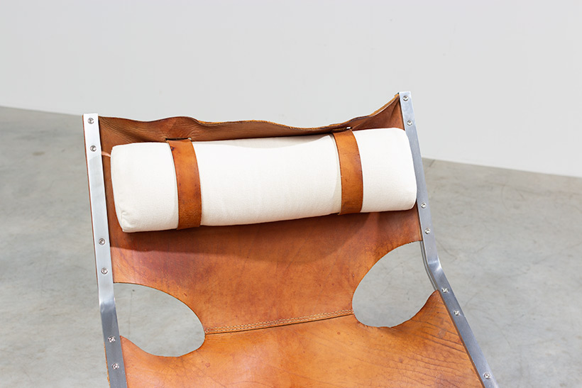 Abraham Polak leather and steel lounge chair modernism 1960 img 8