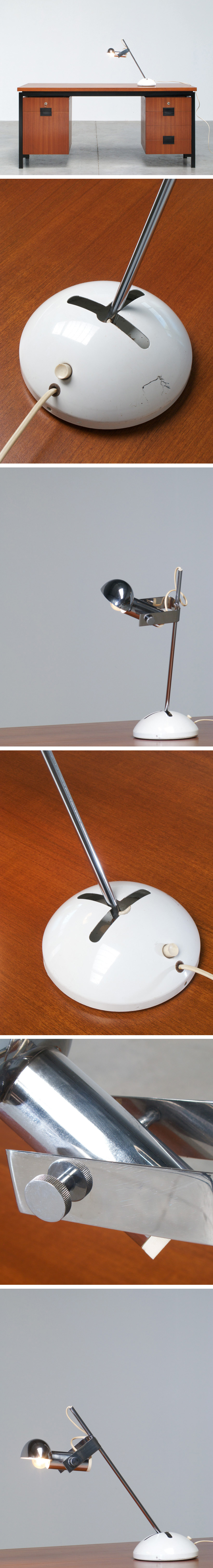 Adjustable Italian table or desk light for Luci Large