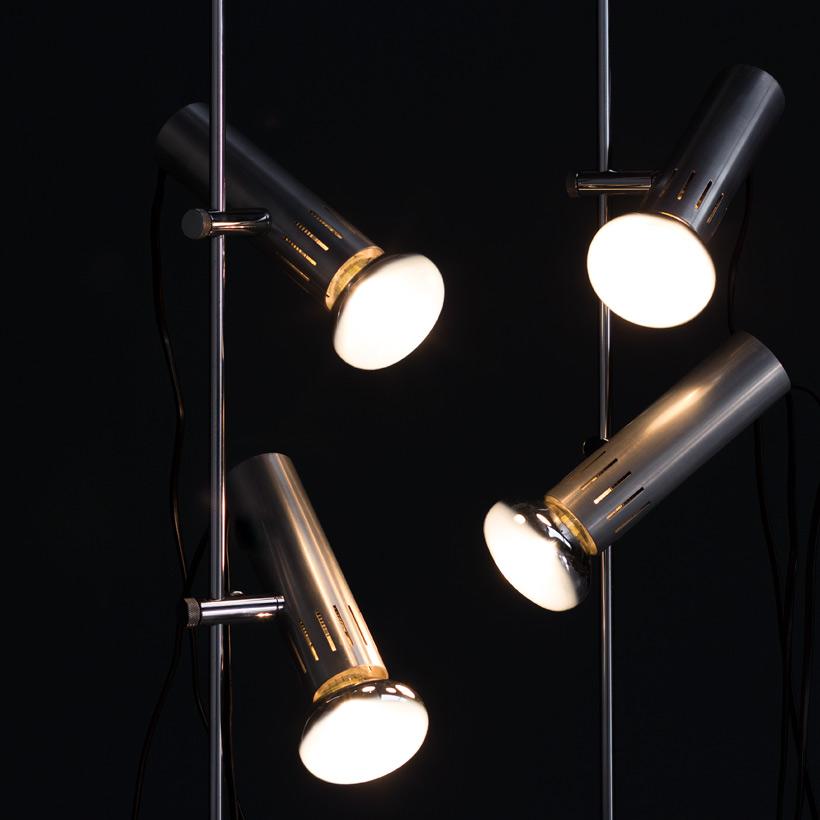 Alain Richard pair floor lamps A14 by Pierre Disderot