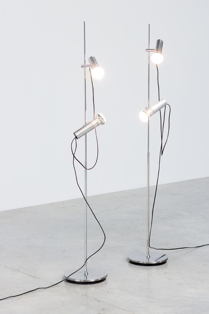 Alain Richard pair floor lamps A14 by Pierre Disderot img 4