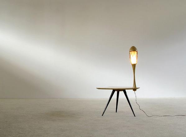 Aldo Tura parchment goatskin side table coffee table