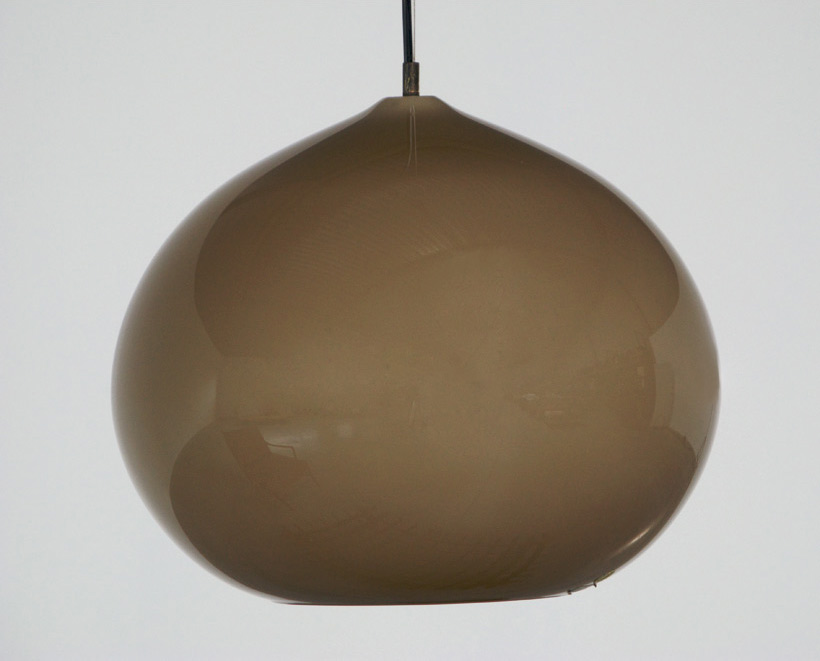 Alessandro Pianon Vistosi brown onion ceiling lamp